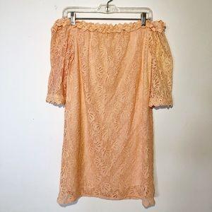 UMGEE LAVENDER CROCHET STRAPLESS DRESS